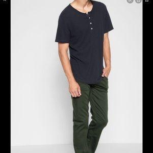 JAMES PERSE 3 button black t shirt size 5